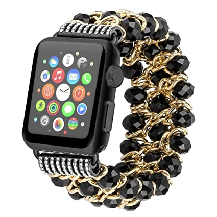 Amazon.com: Cegar para Apple Watch Band de lujo hecho a mano ...