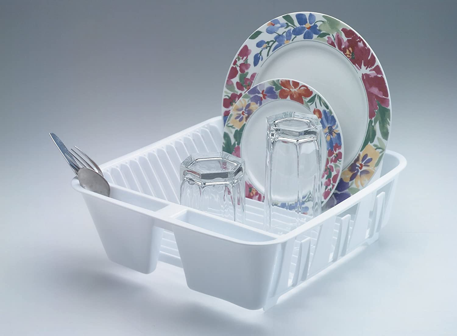 Amazon: Rubbermaid Antimicrobial Insink Dish Drainer, White, Small  (fg6049arwht): Kitchen & Dining