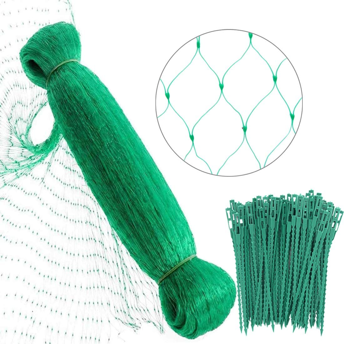 XBDZR 4 M x 10 M Anti Bird Protection Net Garden Plant Mesh Netting Fruit Trees Netting with 50 Cable Ties