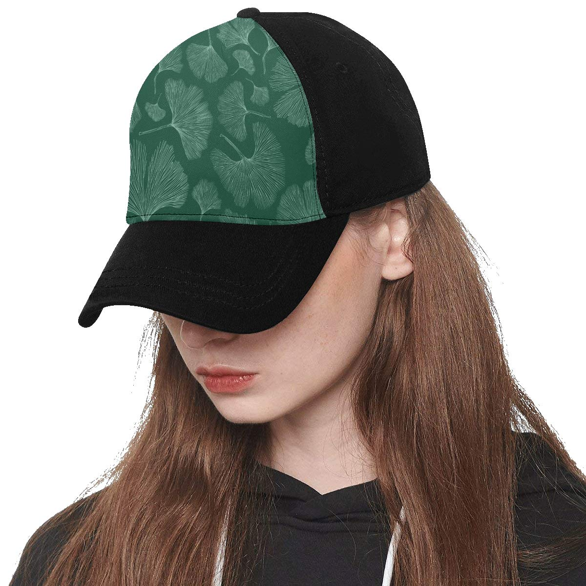 Front Panel Custom Ginseng Medicinal Herbs Natural Printing Baseball Hat Adjustable Size Curved Cap for Hip-hop Sports Summer Beach Outdoor Activities Unisex