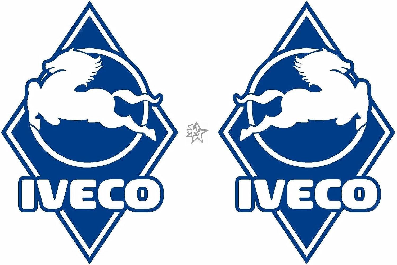 2x IVECO Pferd No1 Raute ca 30 cm Aufkleber LKW Truck Tuning Trucker Sticker Decal von MYROCKSHIRT
