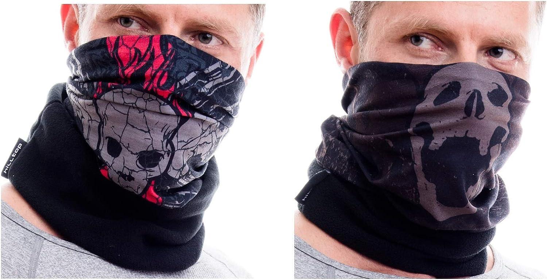 Ski Gesichtsmaske mit Fleece f/ür Damen und Herren Schlauchschal Motorrad Halstuch Hilltop 2-er Set Polar Multifunktionstuch