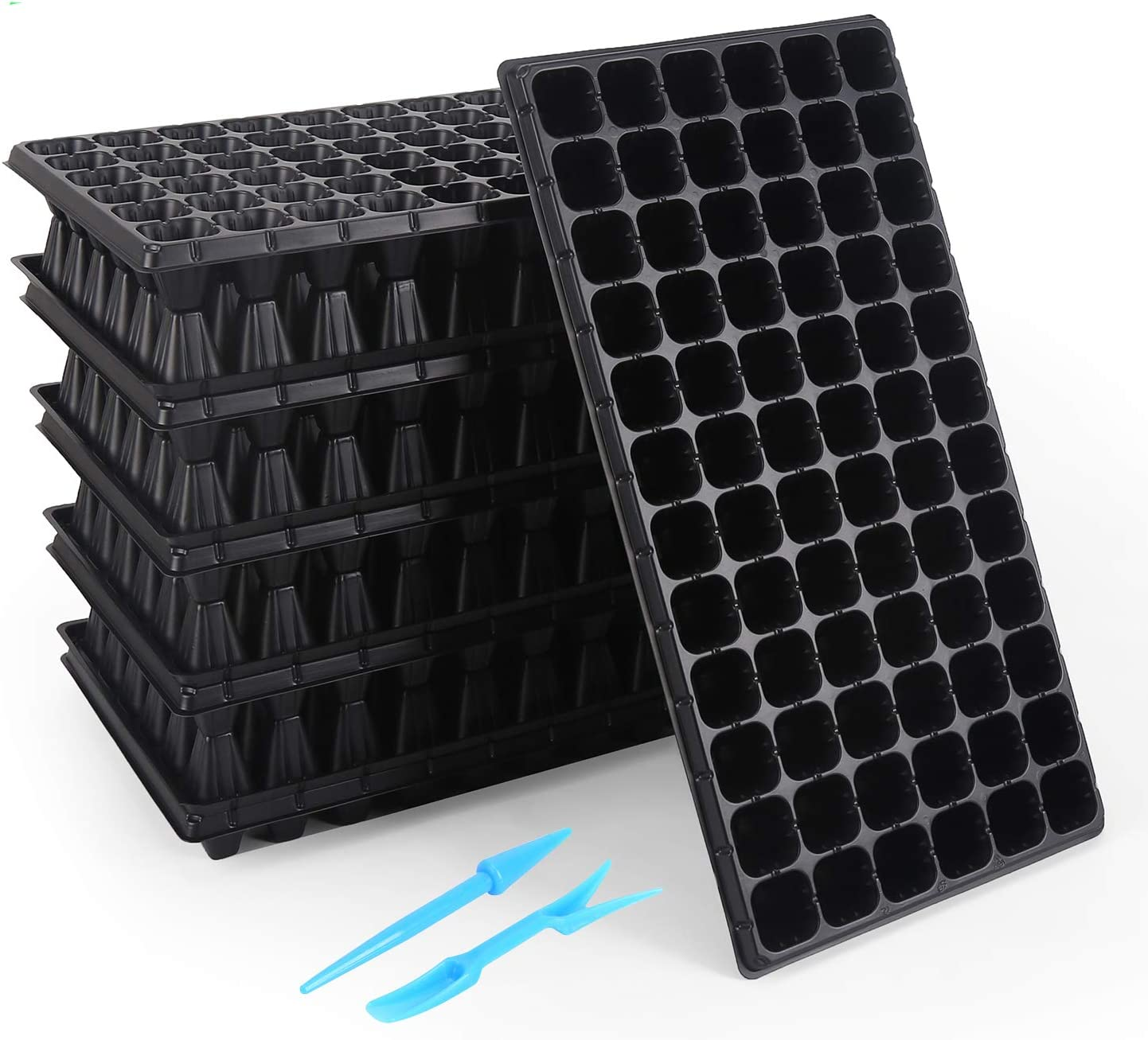 120-6-cell Trays Seed Starter Trays 720 Cells for Seed Germination +10 Plant Labels