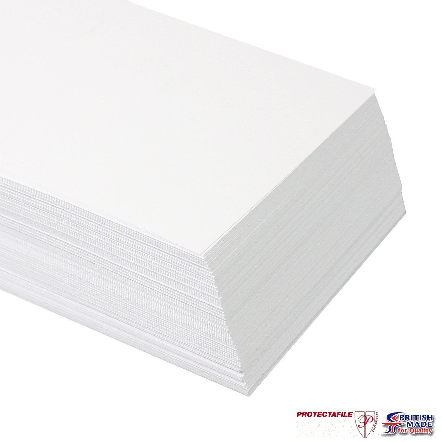 100 x A4 PREMIUM THICK WHITE PRINTER CRAFT CARD 300gsm Quickdraw