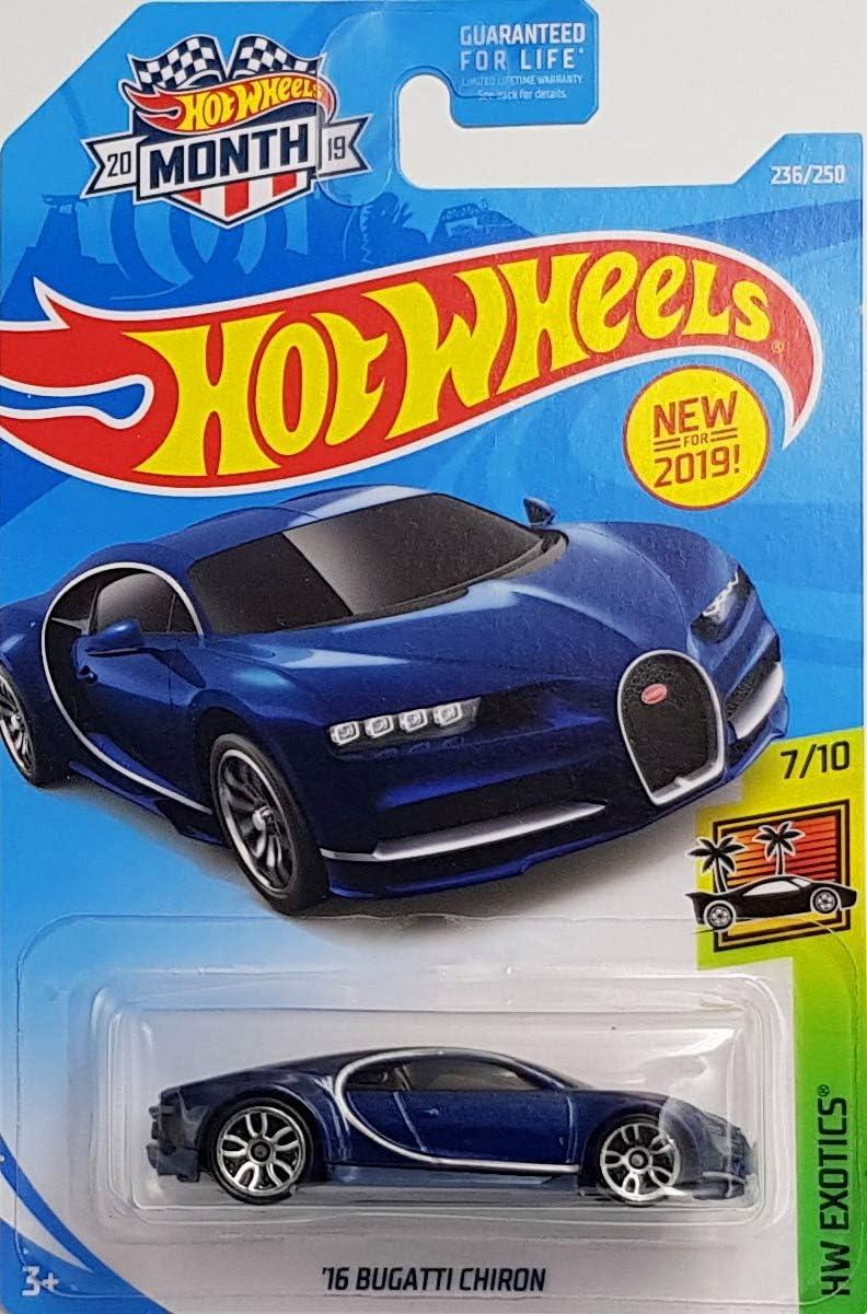 Blue 236//250 Hot Wheels 2019 Hw Exotics 16 Bugatti Chiron