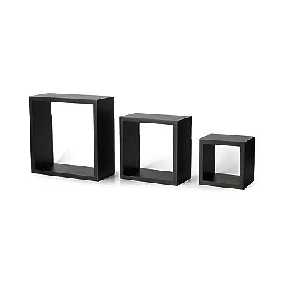 MELANNCO Floating Wall Mount Square Cube Shelves