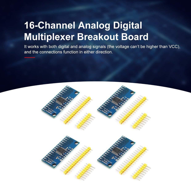 Multicolor MXECO 4Pcs Alta Velocidad 16CH Anal/ógico Digital Multiplexor Breakout Board M/ódulo CD74HC4067 CMOS M/ódulo preciso