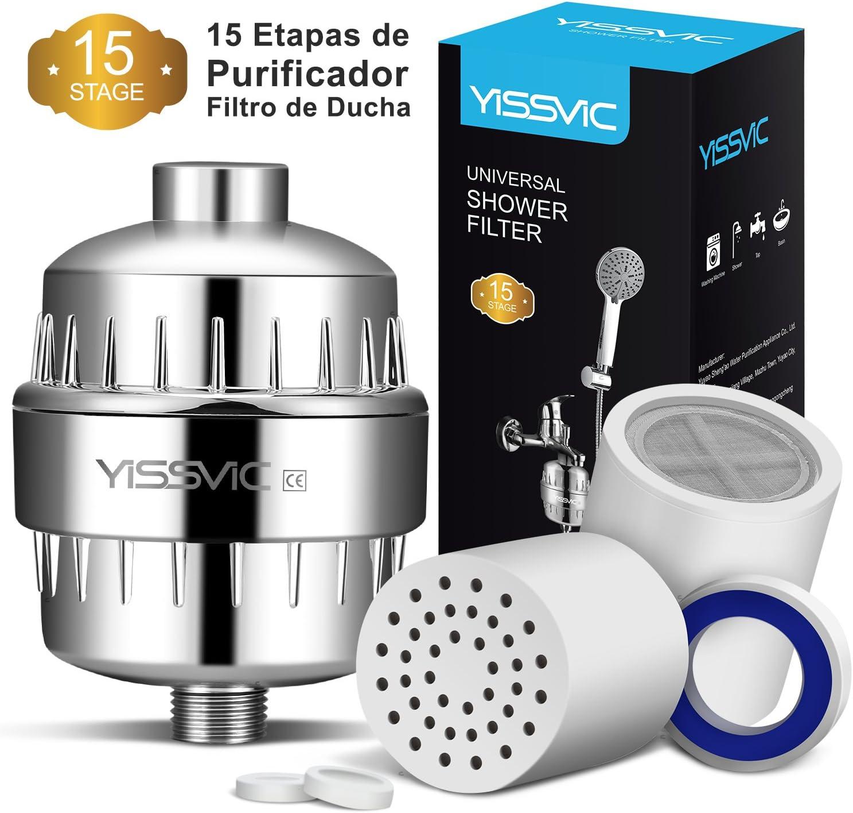 YISSVIC Filtro para Ducha 15 Etapas Universal Filtro Purificador ...
