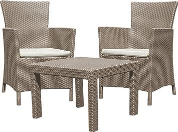 Allibert 219990 Rosario Balcony Salon de jardin avec 2 fauteuil et 1 ...
