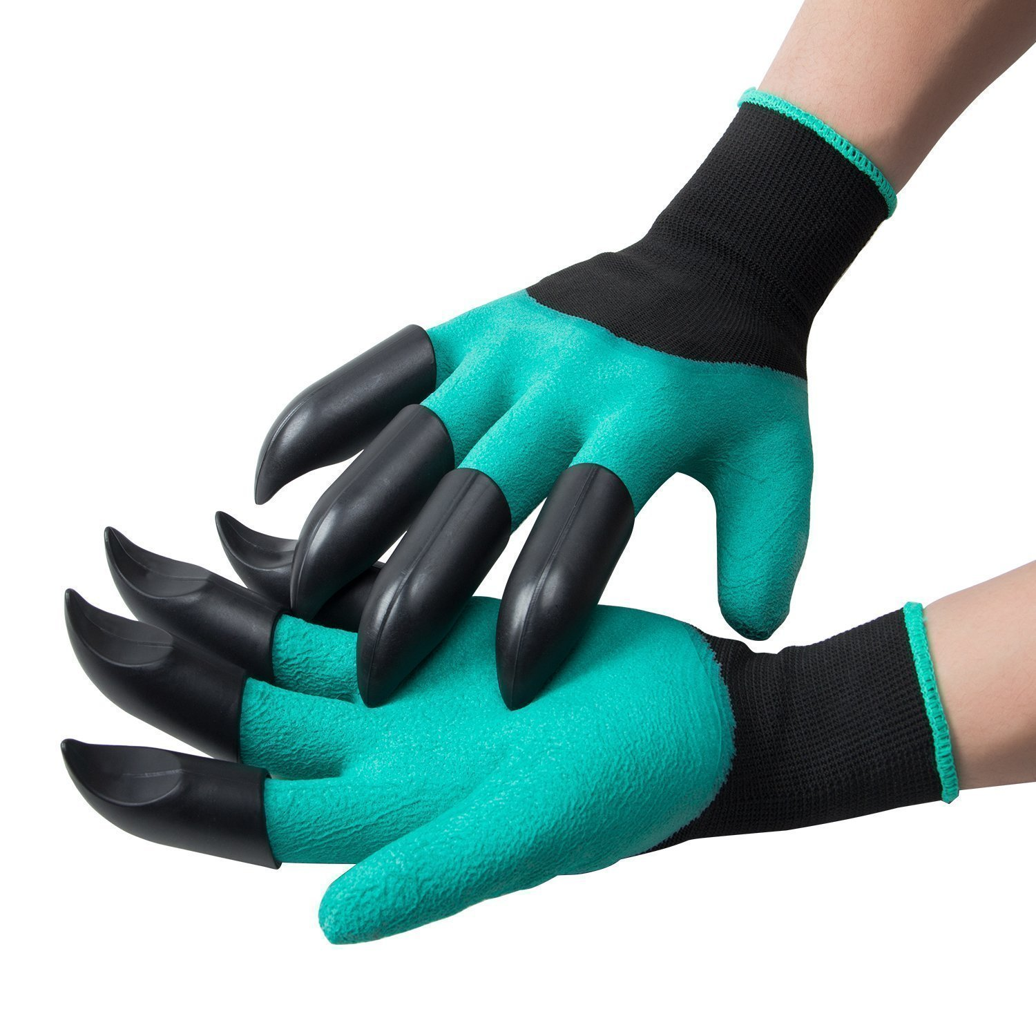Meanch Left Handed Garden Genie Gloves With Claws Quick Easy to Dig and Plant-1 Pack