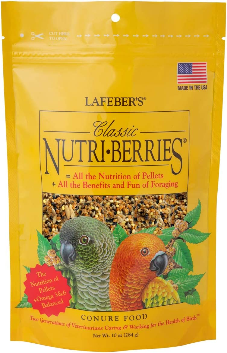 LAFEBER'S Classic Nutri-Berries Conure Food, Made with Non-GMO and Human-Grade Ingredients, for Conures, 10 oz