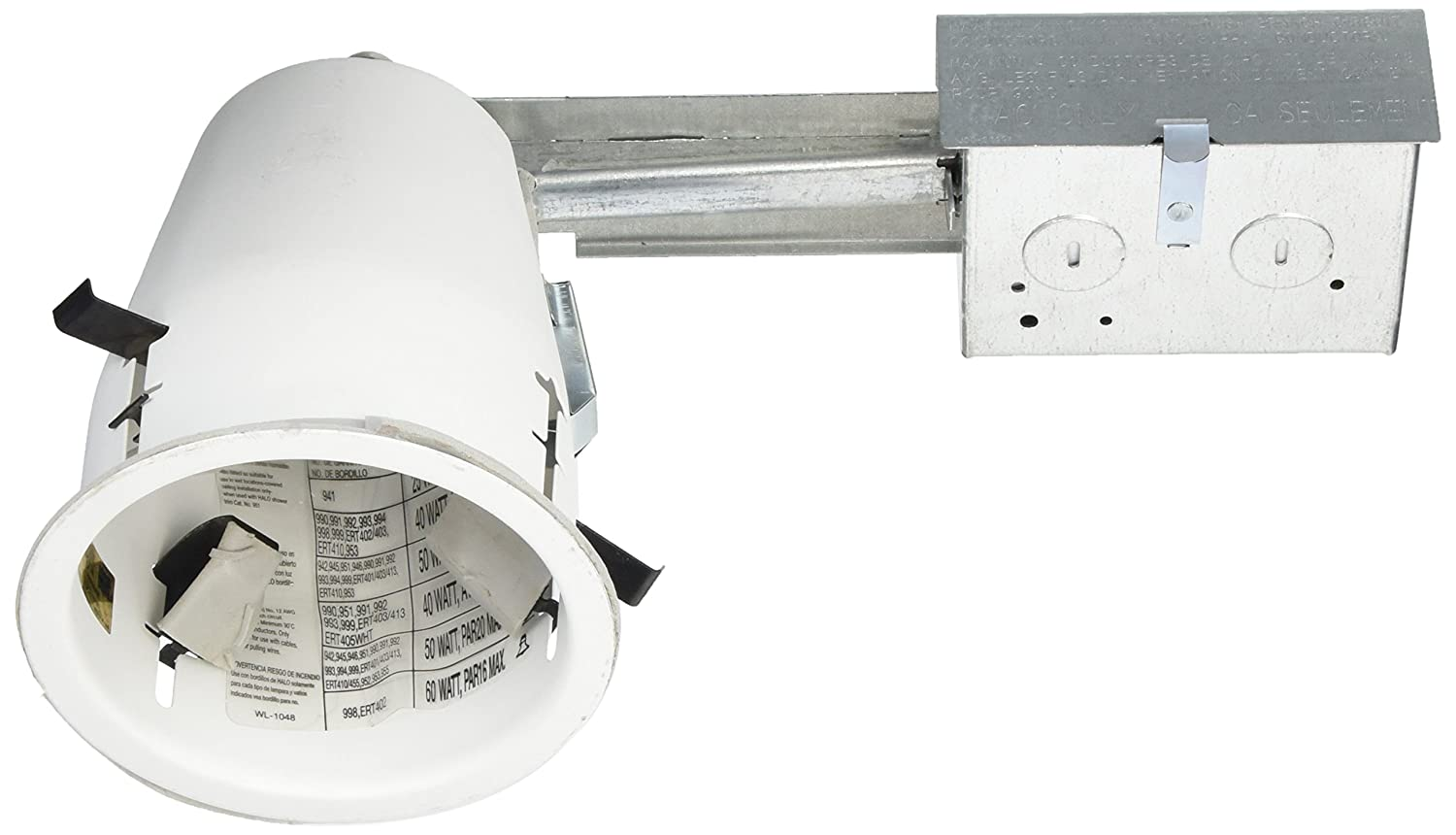 HALO H99RTAT 4 Housing Non-IC Air-Tite Shallow Ceiling Remodel 120V Line Voltage 4 Housing Non-IC EATON