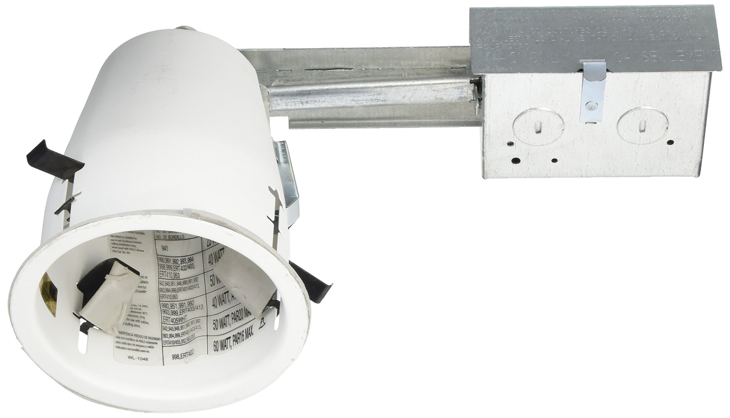 Halo H99RTAT, 4'' Housing Non-IC, Air-Tite Shallow Ceiling Remodel 120V Line Voltage