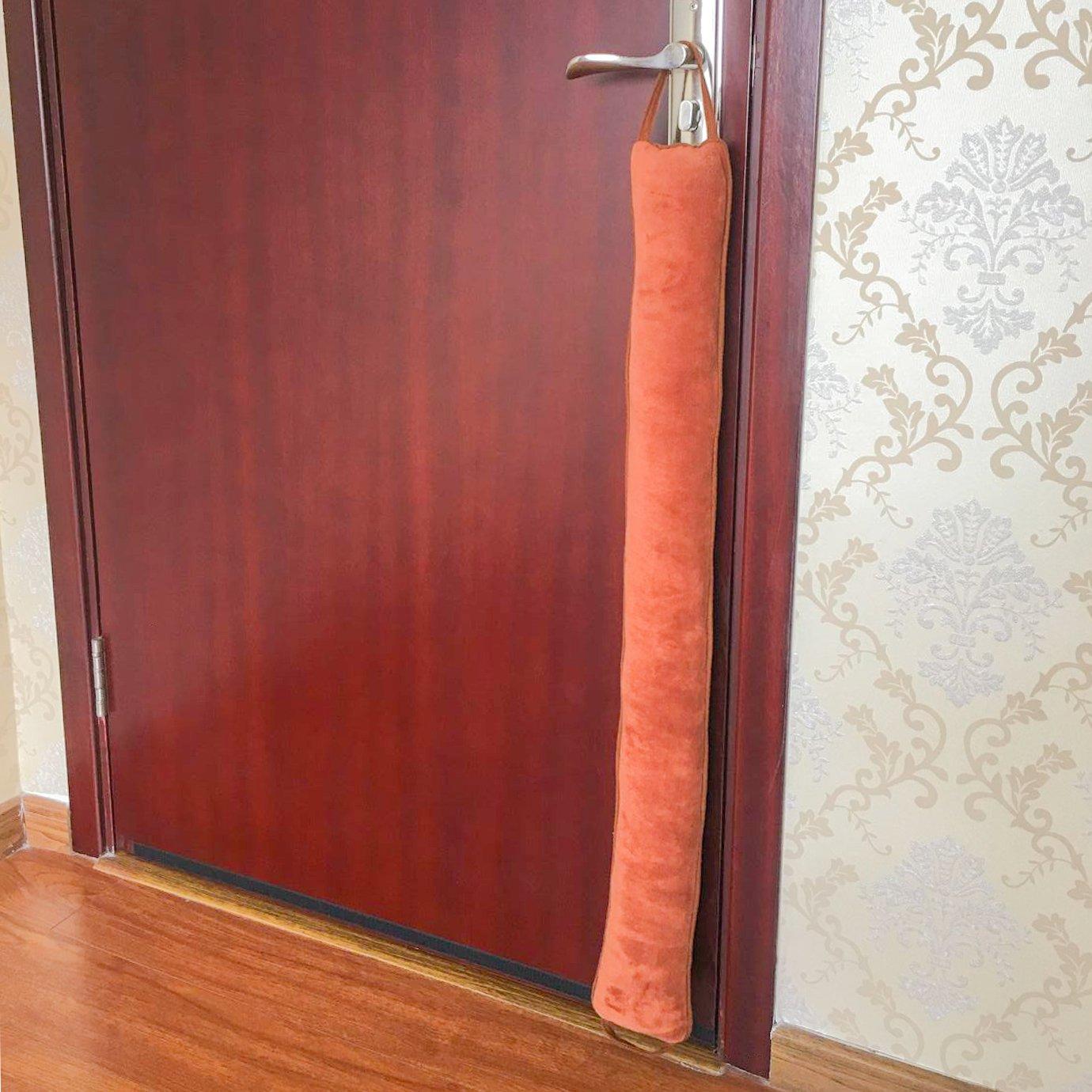 36 Length fowong B075ZJMRGT Door Draft Stopper Weather Stripping Brown