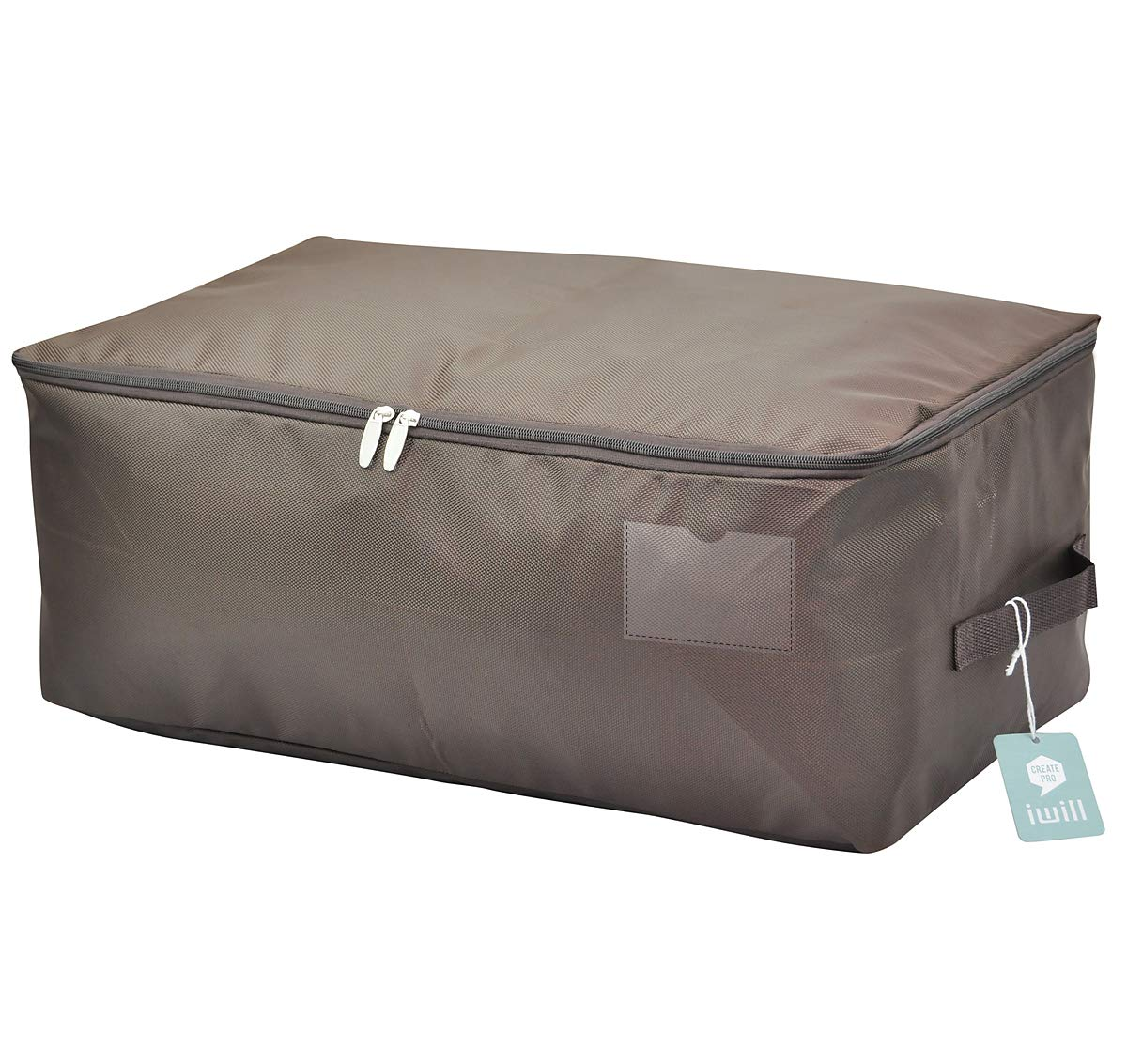 5b574af21e1a iwill CREATE PRO 25.5x15x11 inches, Blanket Storage Bag for Shelf,Coffee