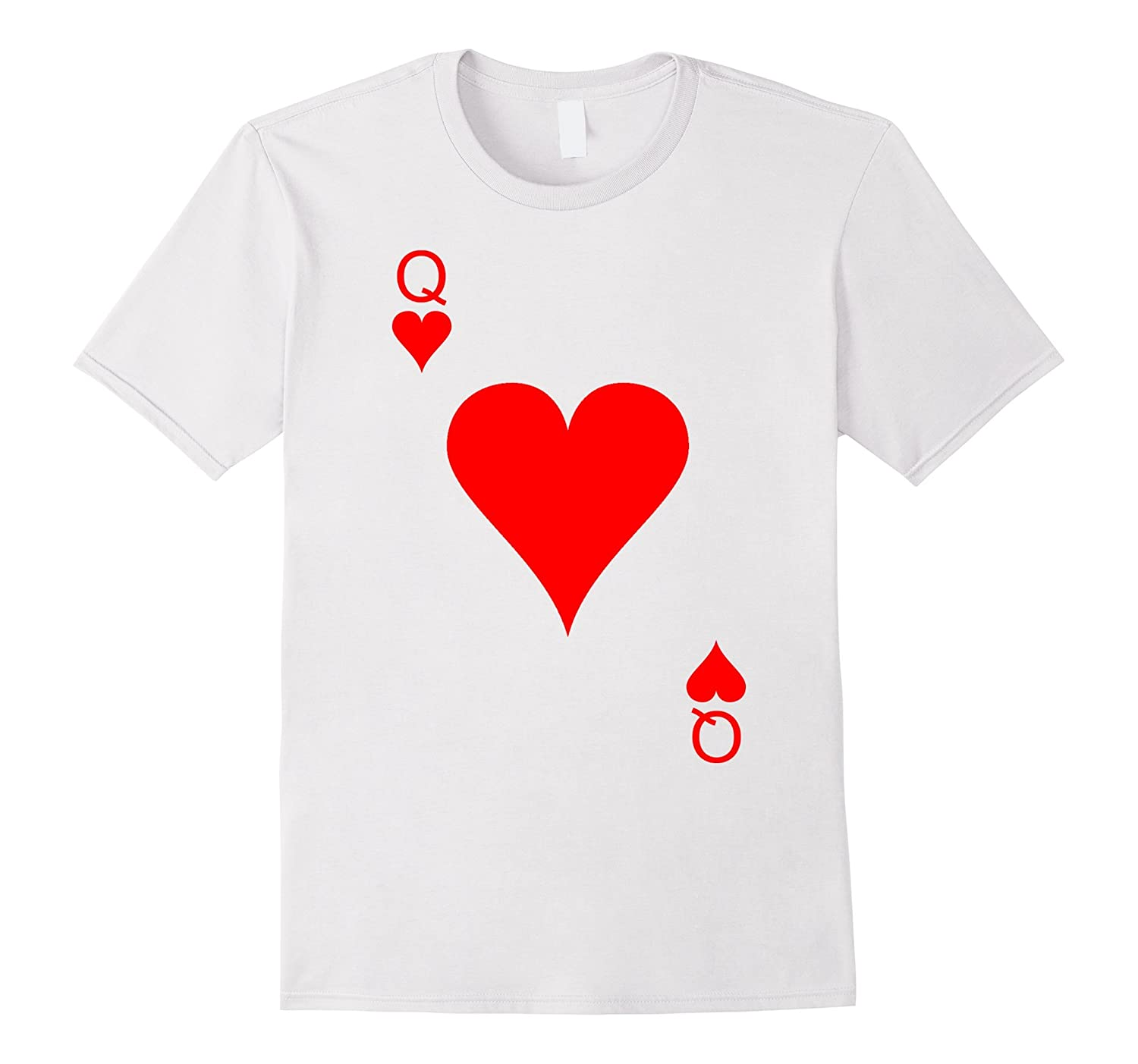 Queen Of Hearts Playing Card Halloween Costume T-Shirt-FL