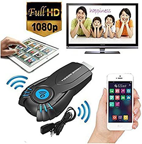 Ezcast Wifi HDMI Pantalla AirPlay Miracast DLNA TV Dongle inalámbrico para Samsung Galaxy S4 S5 iPhone 4S 5S 6 Plus iPod touch iPad Android Smartphone ...