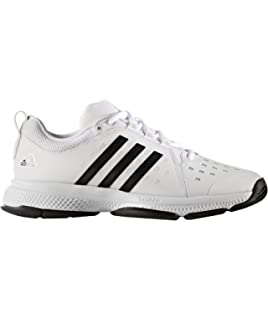 adidas Barricade 2018, Chaussures de Fitness Homme, Blanc (Ftwbla/Negbás/Plamat 000), 48 2/3 EU