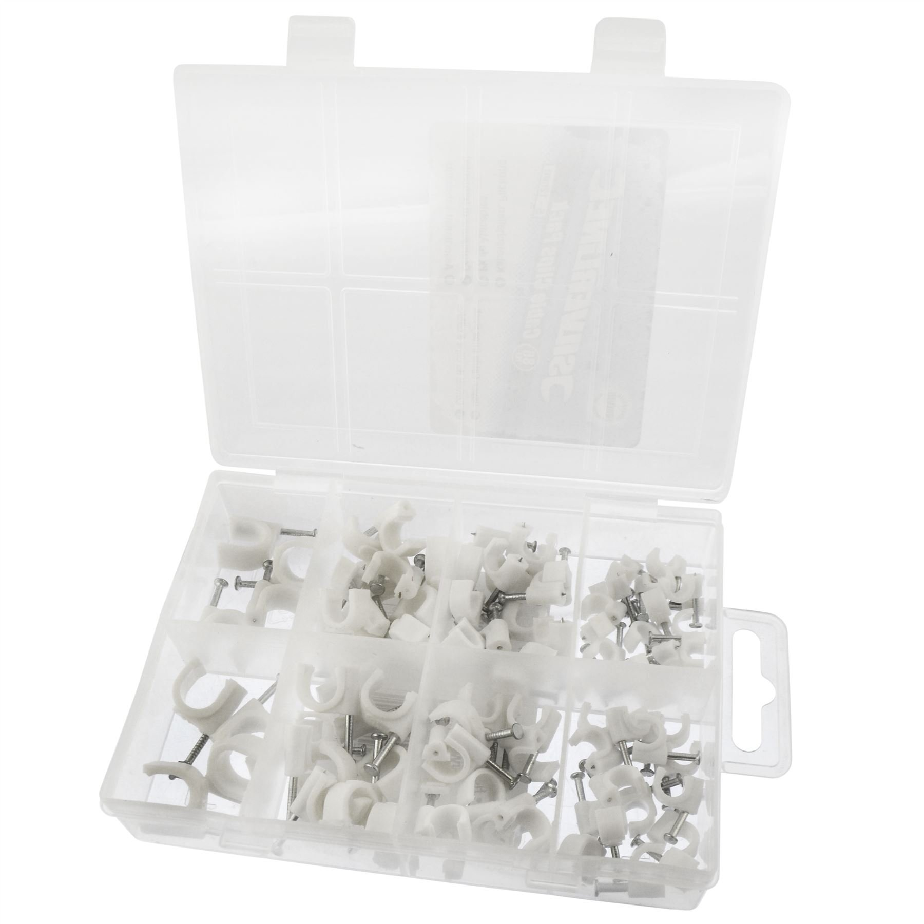 Cable clip pack - 86pc electrical wire fasteners SIL47