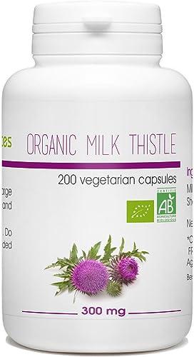 Nature et Plantes Organic Milk Thistle Seed – 300 mg per Capsule – 200 Vegetarian Capsules
