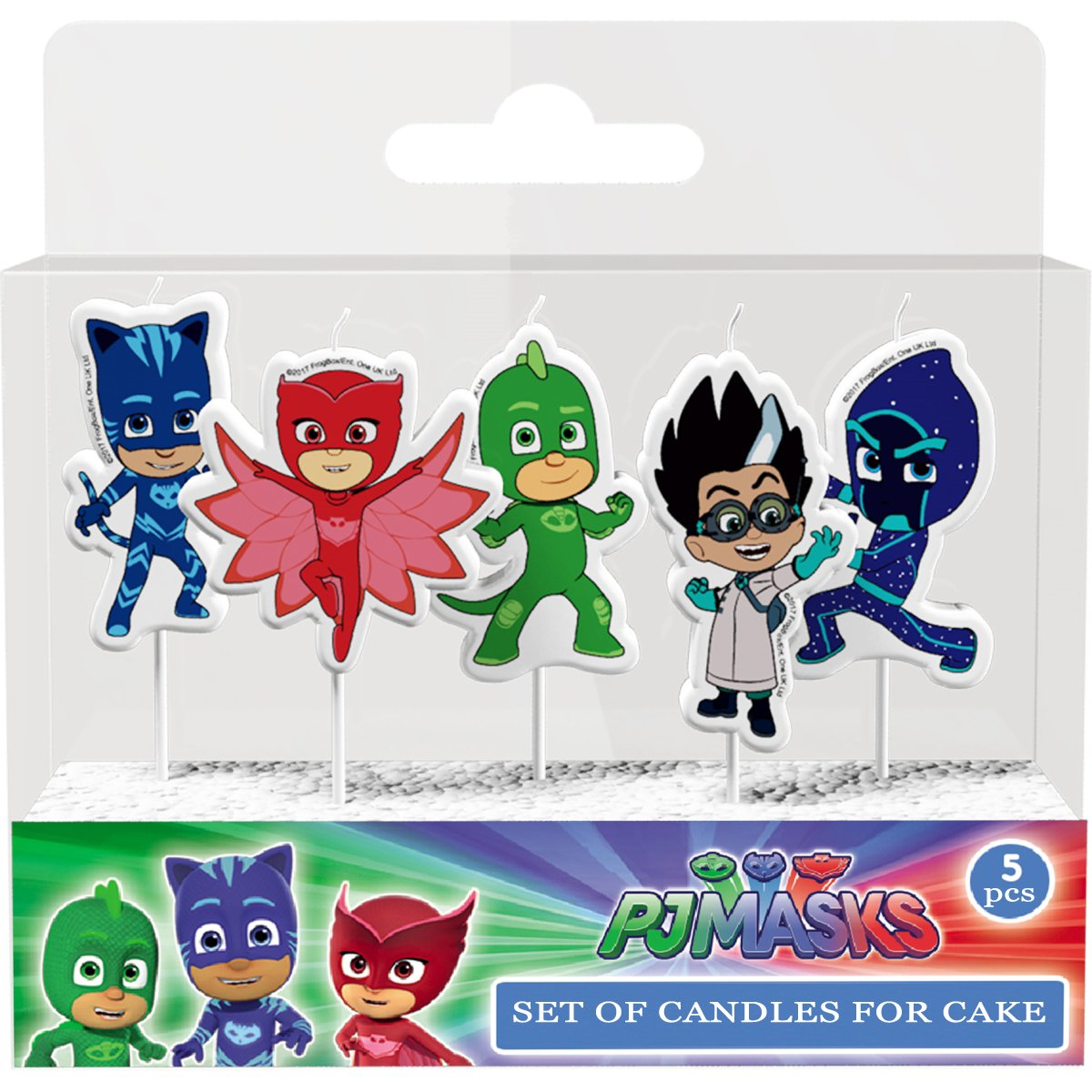 Figures Candles on a Cake Topper Decoration PJ MASKS Must Have Accessories for the Party Supplies and Birthday Gekko Owlette Catboy Night Ninja Romeo