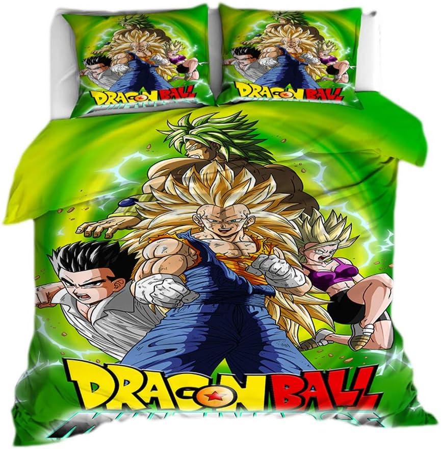 01,150x200-3pcs Dragon Ball Z 3 Pi/èces Super 9 Housse De Couette Housse De Couette Linge De Lit Parure De Lit Goku Avec En Impression 3D Draps Et Parures Draps Et Taies Doreillers Literie Et Linge