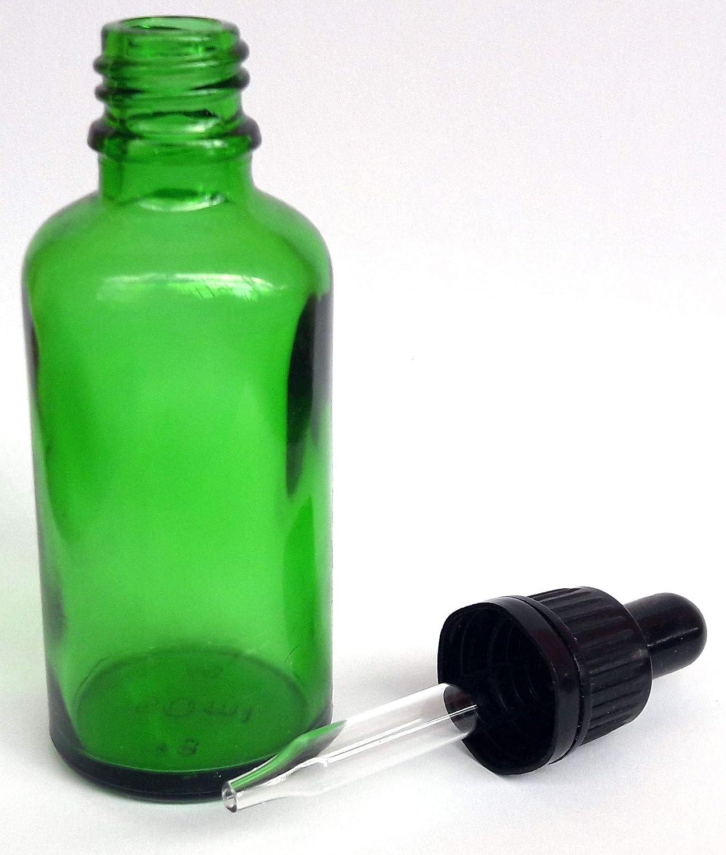 Boccette in vetro Verde 20 ml. con pipetta contagocce, 25 pezzi Tappo autosigillo Fumidea