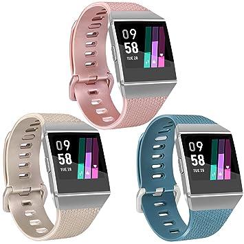 Vancle - 3 Bandas de Oro Rosa y Plata compatibles con Fitbit Ionic ...