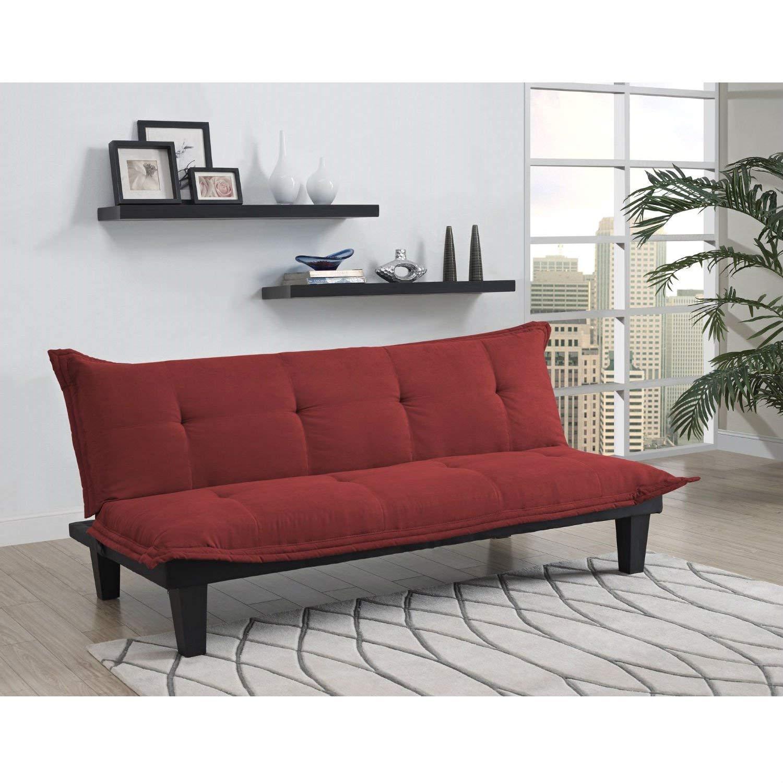 Magnificent Amazon Com Contemporary Futon Style Sleeper Sofa Bed In Red Uwap Interior Chair Design Uwaporg