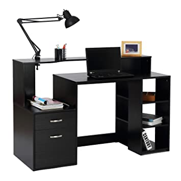 Amazoncom Homcom 55 Multi Level Modern Design Home Office Desk