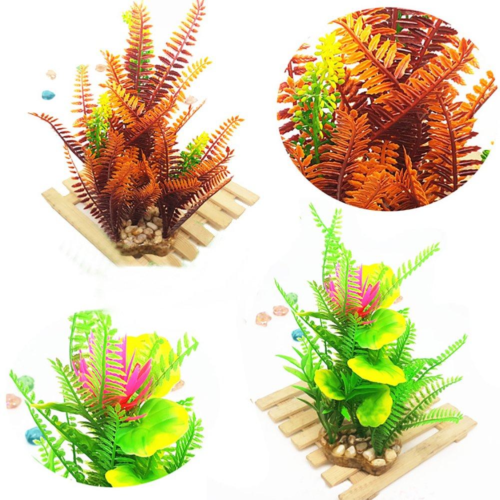 dragonaur Artificial Water Grass Fish Tank Aquarium Landscape Plant Ornament Decoration size 6 6#