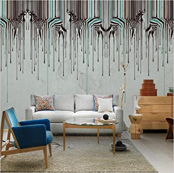 CICDGD Papel Pintado Papel Pintado Retro Minimalism Fashion Zebra Art 3D Murales Sala de Estar/