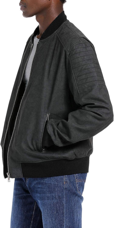 SPYM Mens Casual Motorcycle Biker Faux Leather Jacket Waterproof