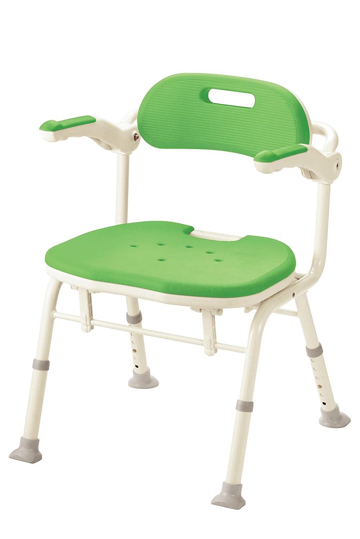 アロン化成 安寿 折りたたみシャワーベンチ IS グリーン B01791B7HC グリーン グリーン