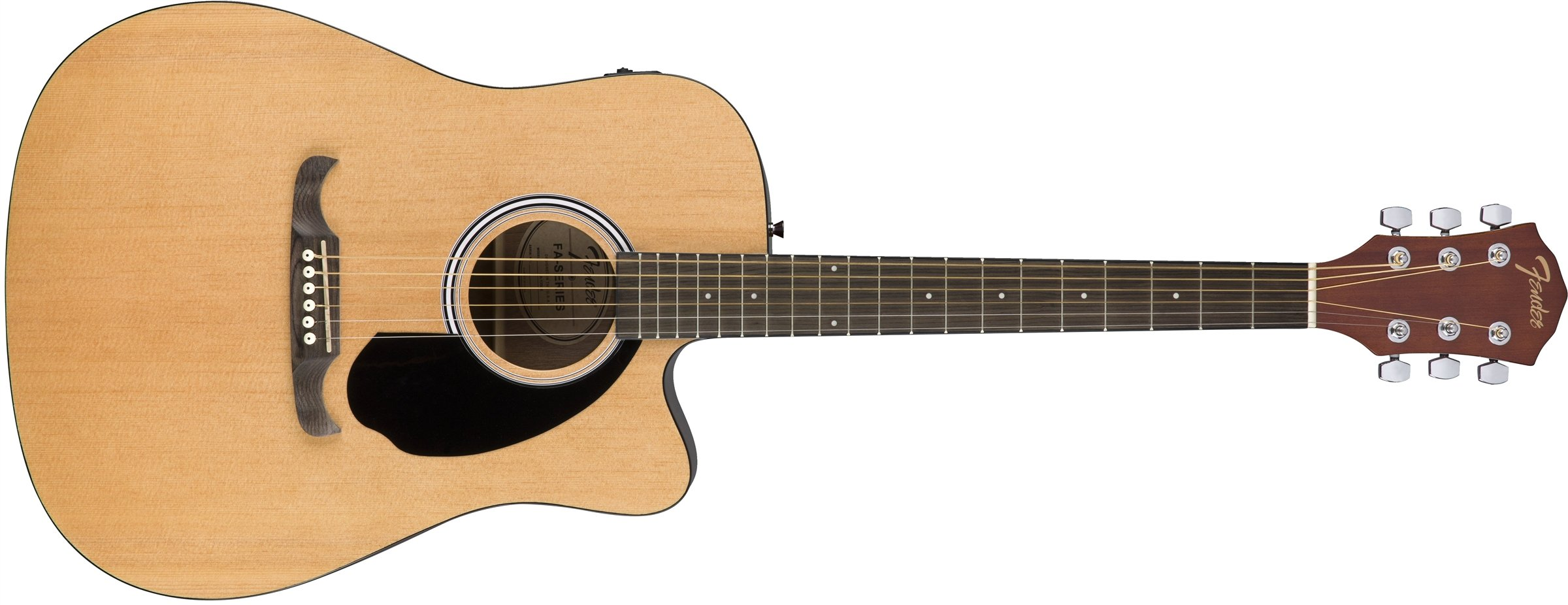 Fender FA-125CE Dreadnought Acoustic Guitar, Natural Finish by Fender
