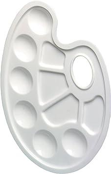Mischpalette weiß Stylex Griffloch Farb-und  Mischfelder Tuschen Malen Palette