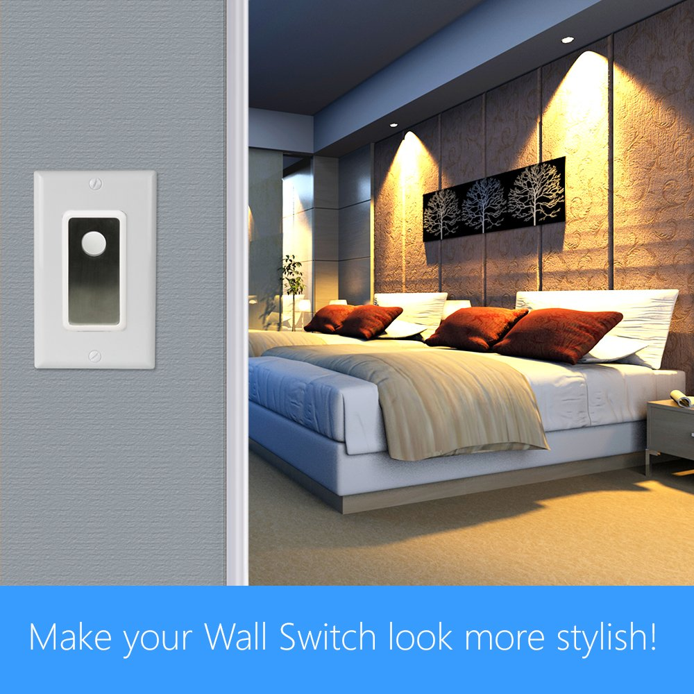 Skylinkhome Sk 8a Wireless Diy 3 Way On Off Anywhere Lighting Home Wiring Outdoor Lamp Posts Automation Control Wall Switch Set With Snap Cover No Neutral Wire Required