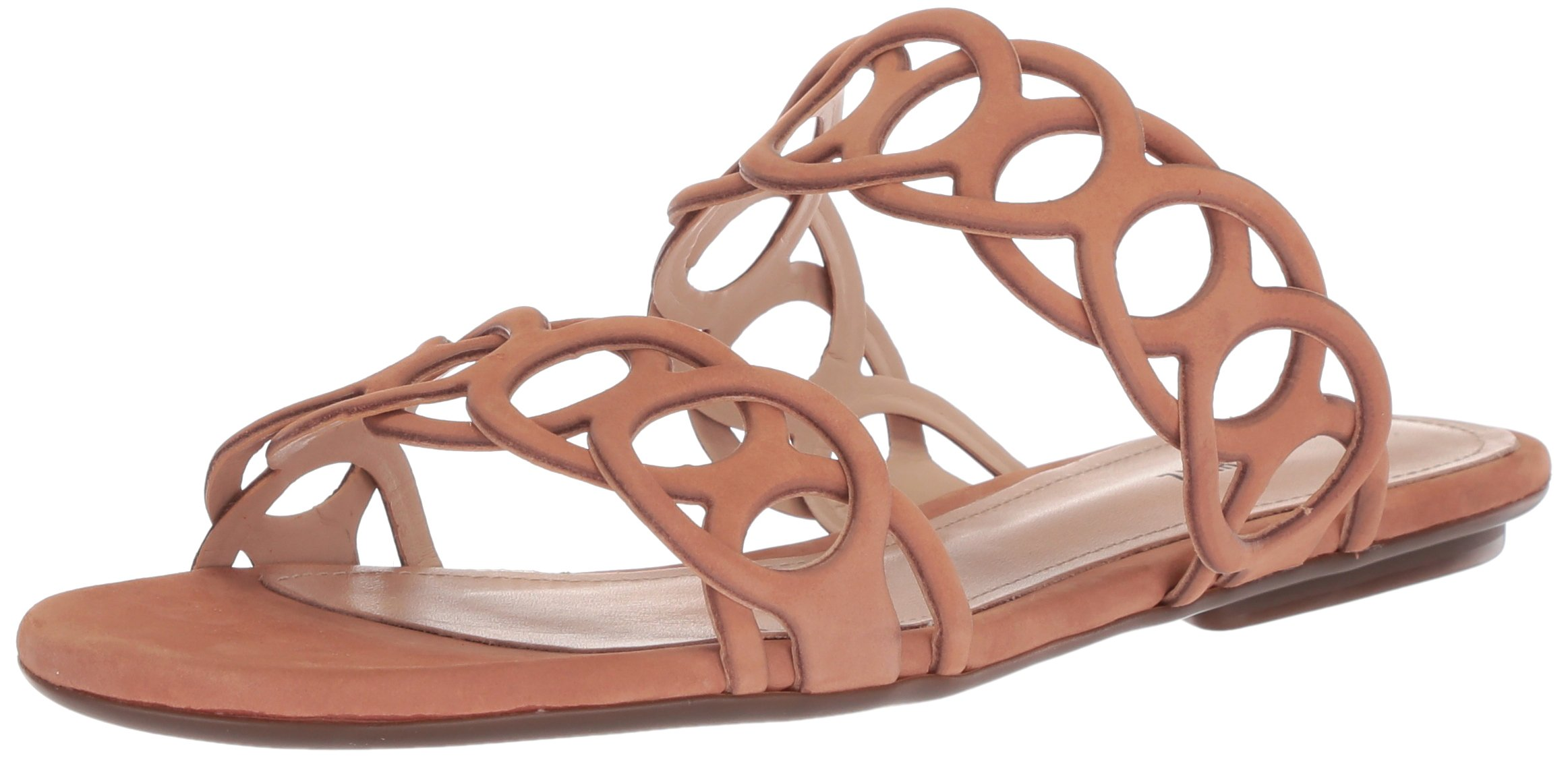 SCHUTZ Women's Yaslin Slide Sandal, Toasted Nut, 8 M US