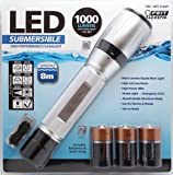 FEIT High Performance Submersible (8m depth) 1000 Lumens LED Flashlight Torch (Suitable for Boat, Storm and Flood use)