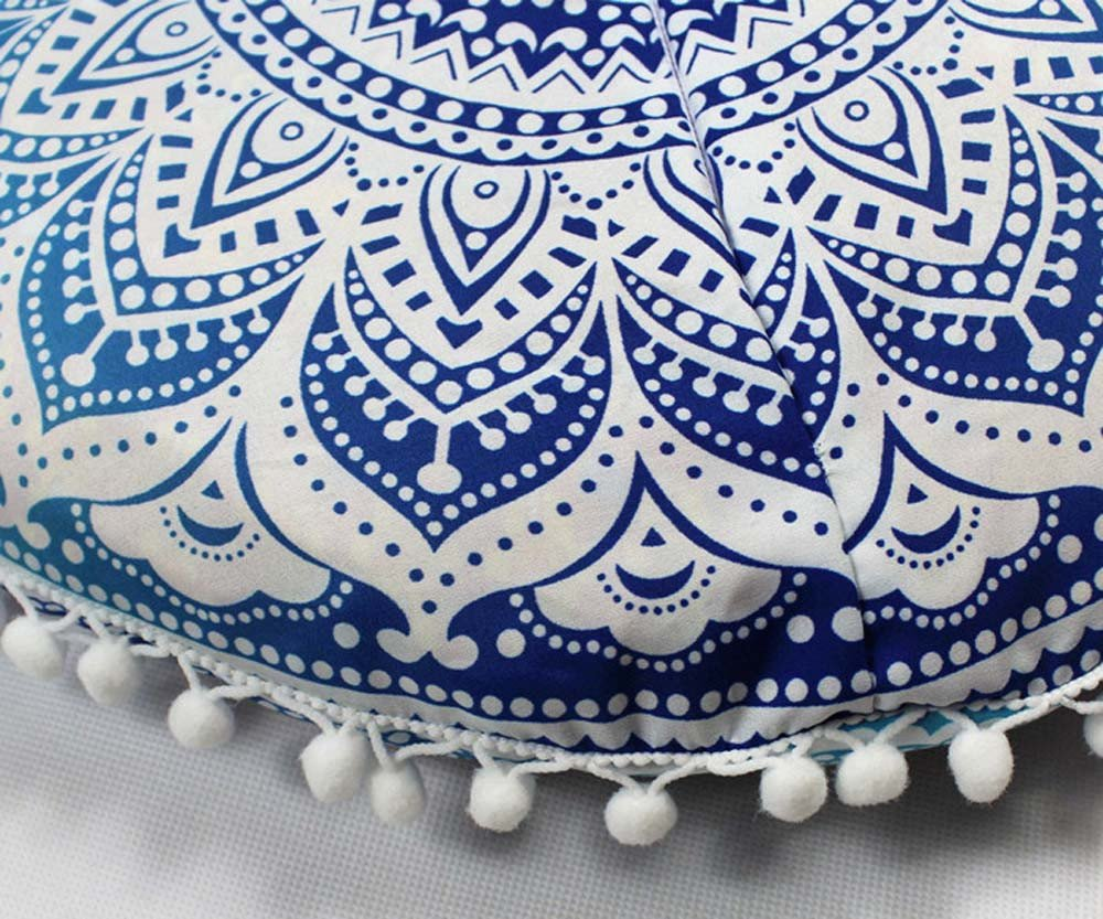 43 X 43 cm Dicomi Indische Mandala-Kissen Weich Bequem Kissenbezug Runde B/öhmische Kissen Kissenbezug