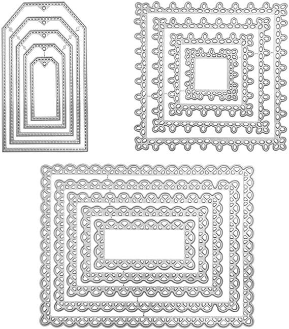 Troqueles de corte para la fabricaci/ón de tarjetas rectangular ovalado marco de corte de metal muere DIY Scrapbook en relieve tarjetas de papel artesanal