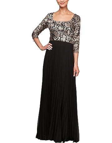 d4c8ad8ae7b0 Alex Evenings Women's Long A Line Illusion Sweetheart Neck Dress (Petite and  Regular)