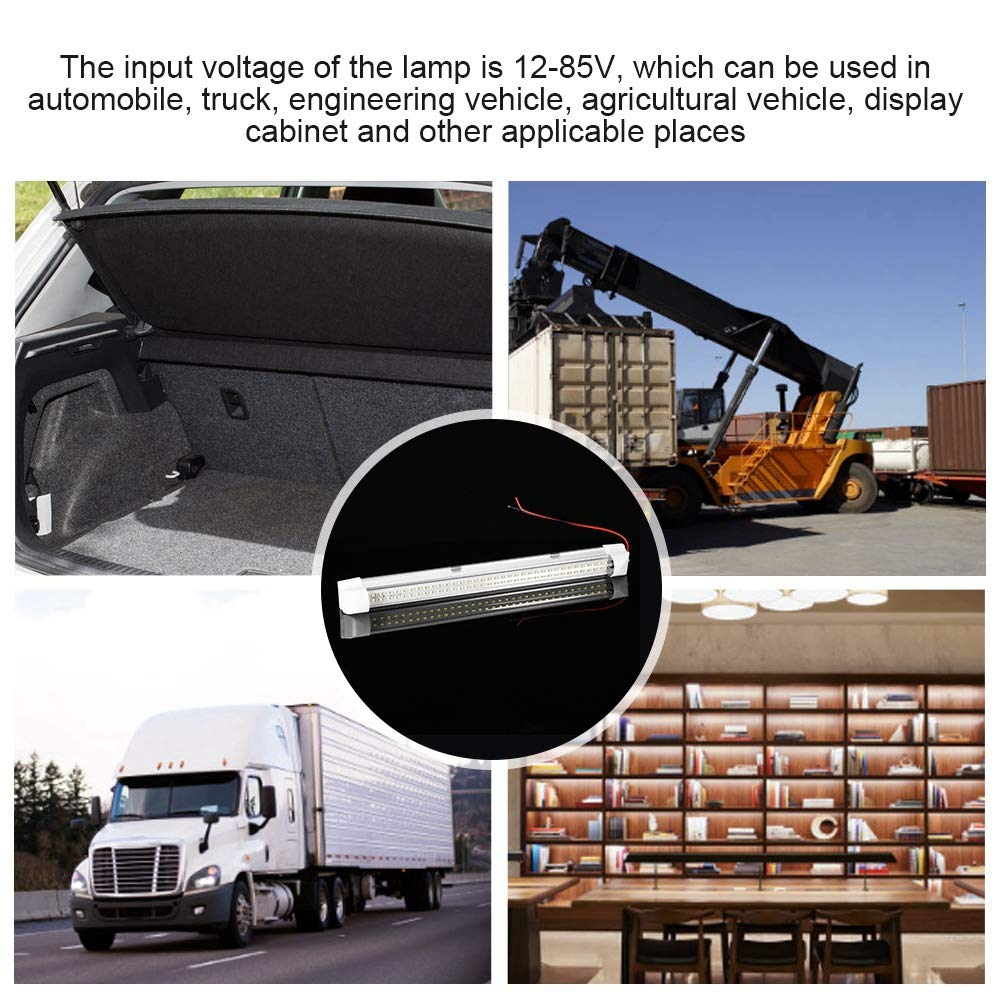 72LED Lamp Tube Auto Repair Carriage Fluorescent Light Low Voltage 12V-85V for Automobile Truck Engineering Vehicle Display Cabinet Interior Light Tube