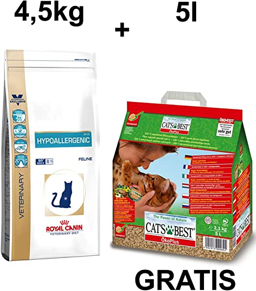 Royal CANIN hypoaller genic gato Forro + Gratis Cat s Best Certificado Plus gato dispersa 5L: Amazon.es: Productos para mascotas