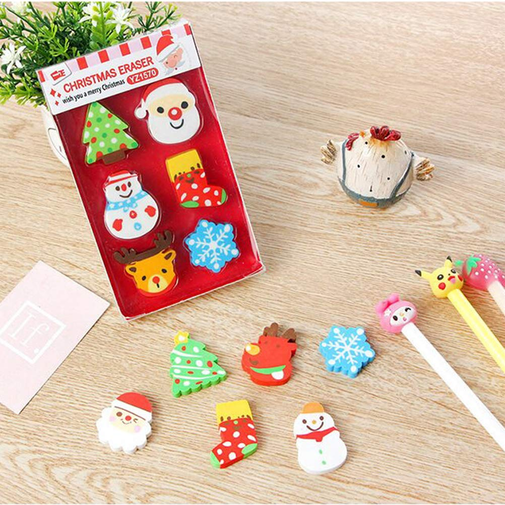 STOBOK 36pcs Christmas erasers for Holiday Kids Students Gift Basic School Supplies (Random Pattern) by STOBOK (Image #4)