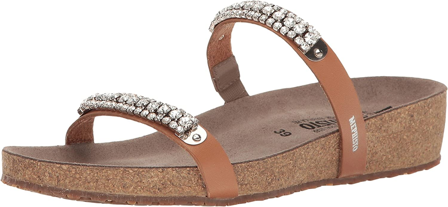 722dd222bcf5 Mephisto Women s Ivana Camel Waxy Sandal  Amazon.co.uk  Shoes   Bags