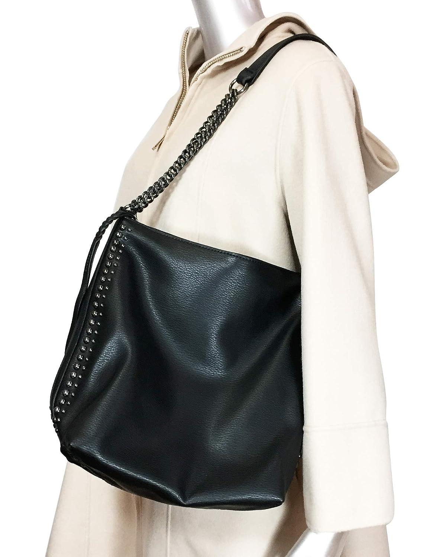 2490520bafc44 ZARA Damen Sacktasche mit ketten 5018 304  Amazon.de  Schuhe   Handtaschen