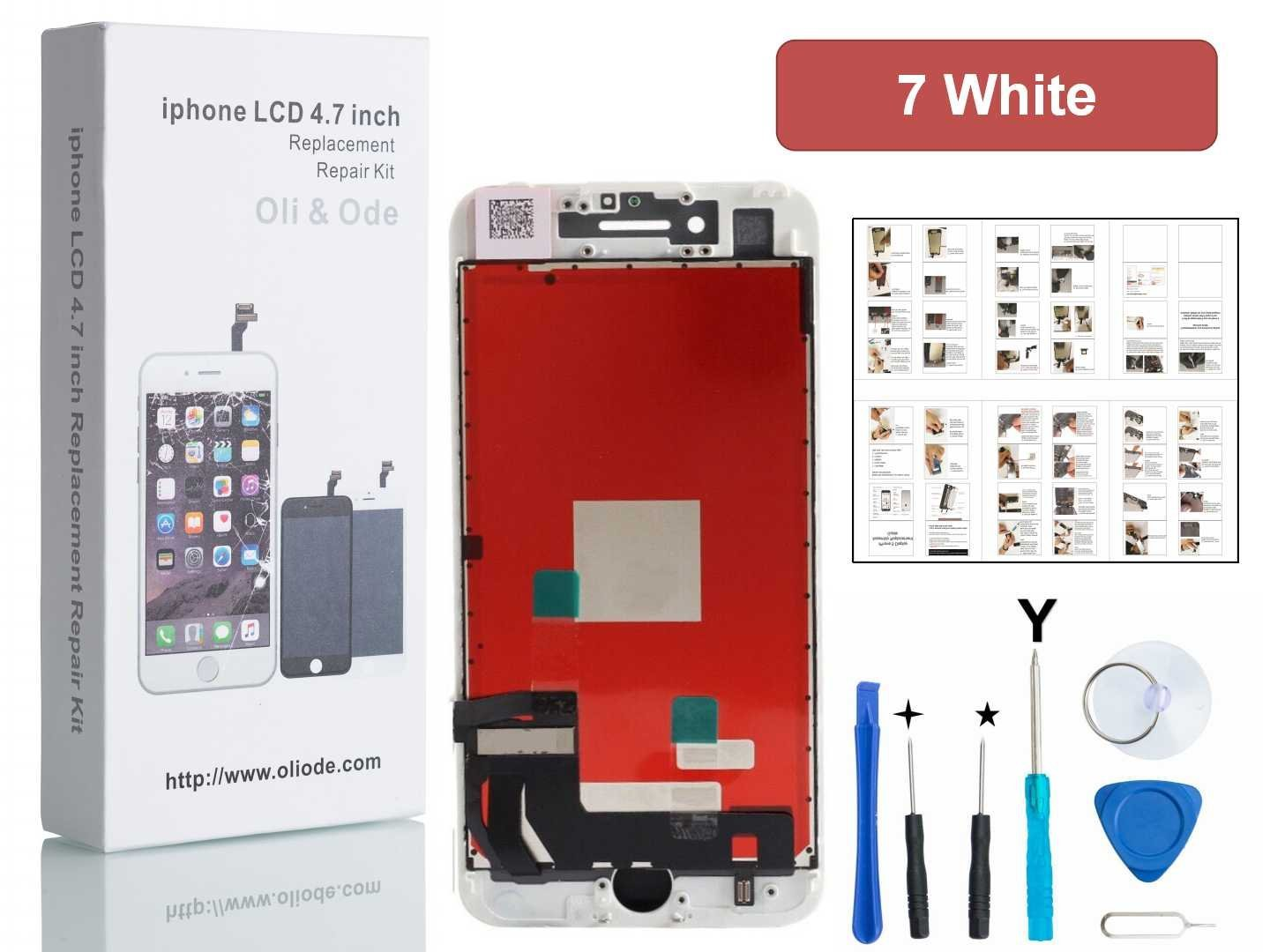 Amazon.com: Oli & Ode iPhone 7 Screen Replacement LCD Touch Screen  Digitizer Frame Assembly Set Tools Provide (White): Electronics