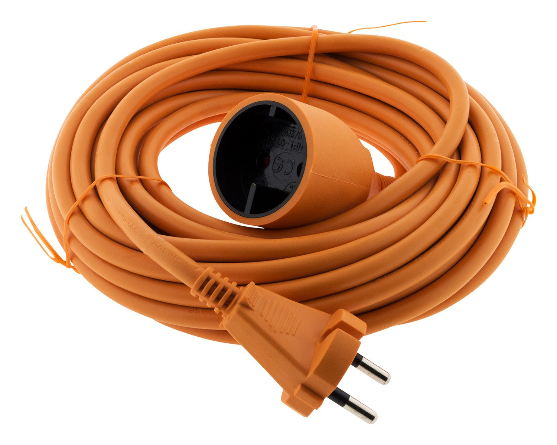 Verlä ngerungskabel 16A HO5VV-F 2P ohne Erdung 2x 1, 5 orange 10m Zenitech 192201