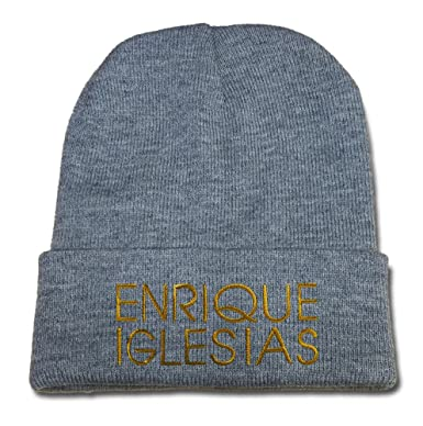 31e2a5c7656 TAYLORP Enrique Iglesias Logo Beanie Fashion Unisex Embroidery Beanies  Skullies Knitted Hats Skull Caps